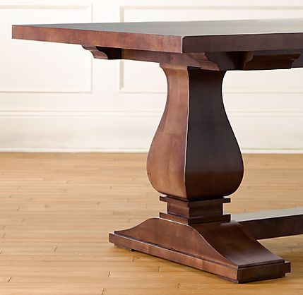 Walnut Dining Table end view.