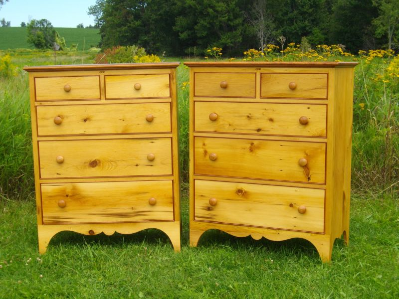 Custom furniture made in Ontario by Guy Roy Dresser pairs.