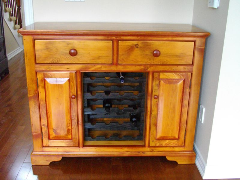 Custom Wine cabinet finished and installed