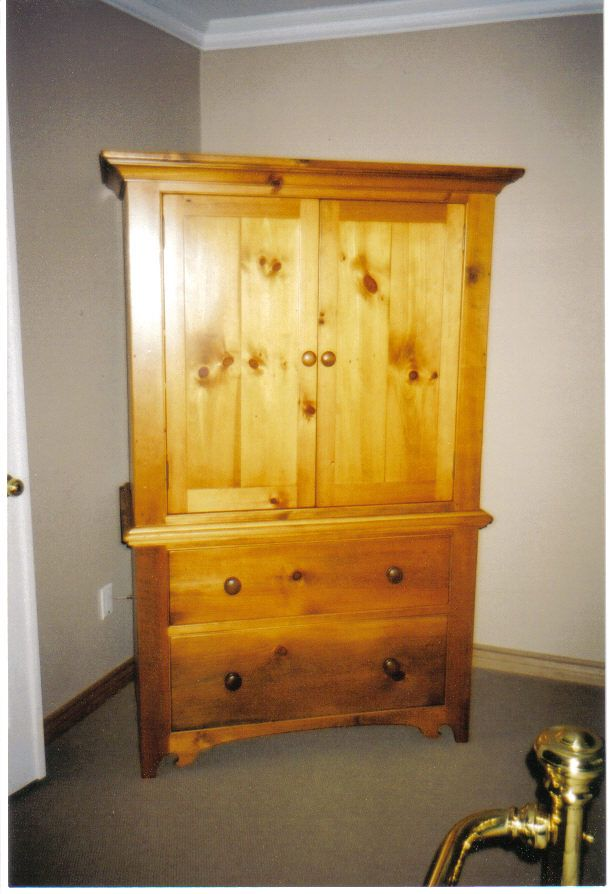 Large Wardrobe made from solid wood.