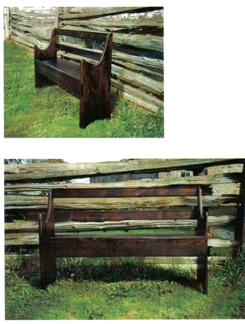 Reclaimed lumber bench hand crafted in Ontario by Guy Roy