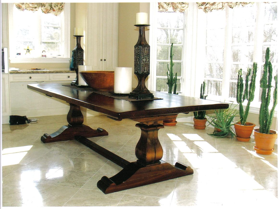 Ontario Custom Furniture dining table.